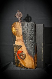 """OUT OF THE FIRE;"" Assemblage; 13X8X3"""